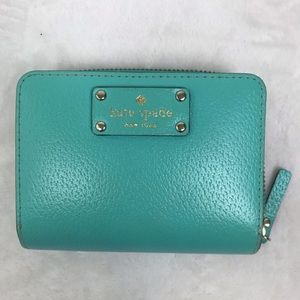 Kate Spade Bi-Fold Zip Leather Wallet